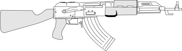 Ak47 clip art Free vector in Open office drawing svg ( .svg.