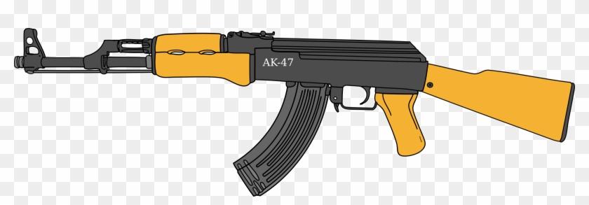 Gun Ak 47 Cut Out Png.