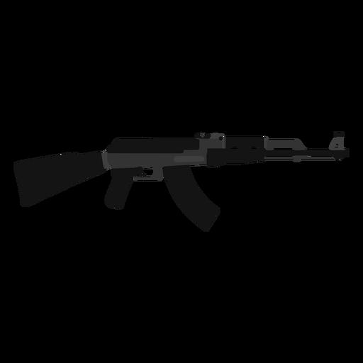 Ak 47 assault rifle flat icon.