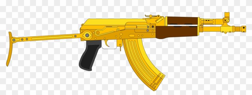 Gold Ak47 Png.