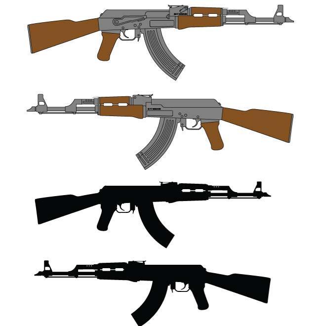 AUTOMATIC RIFLE AK.