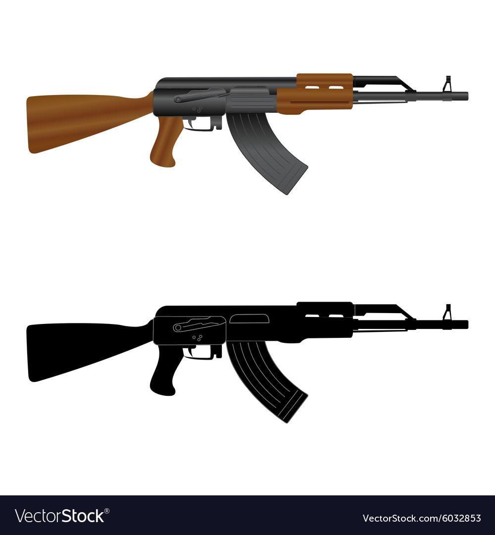 Assault rifle ak 47.