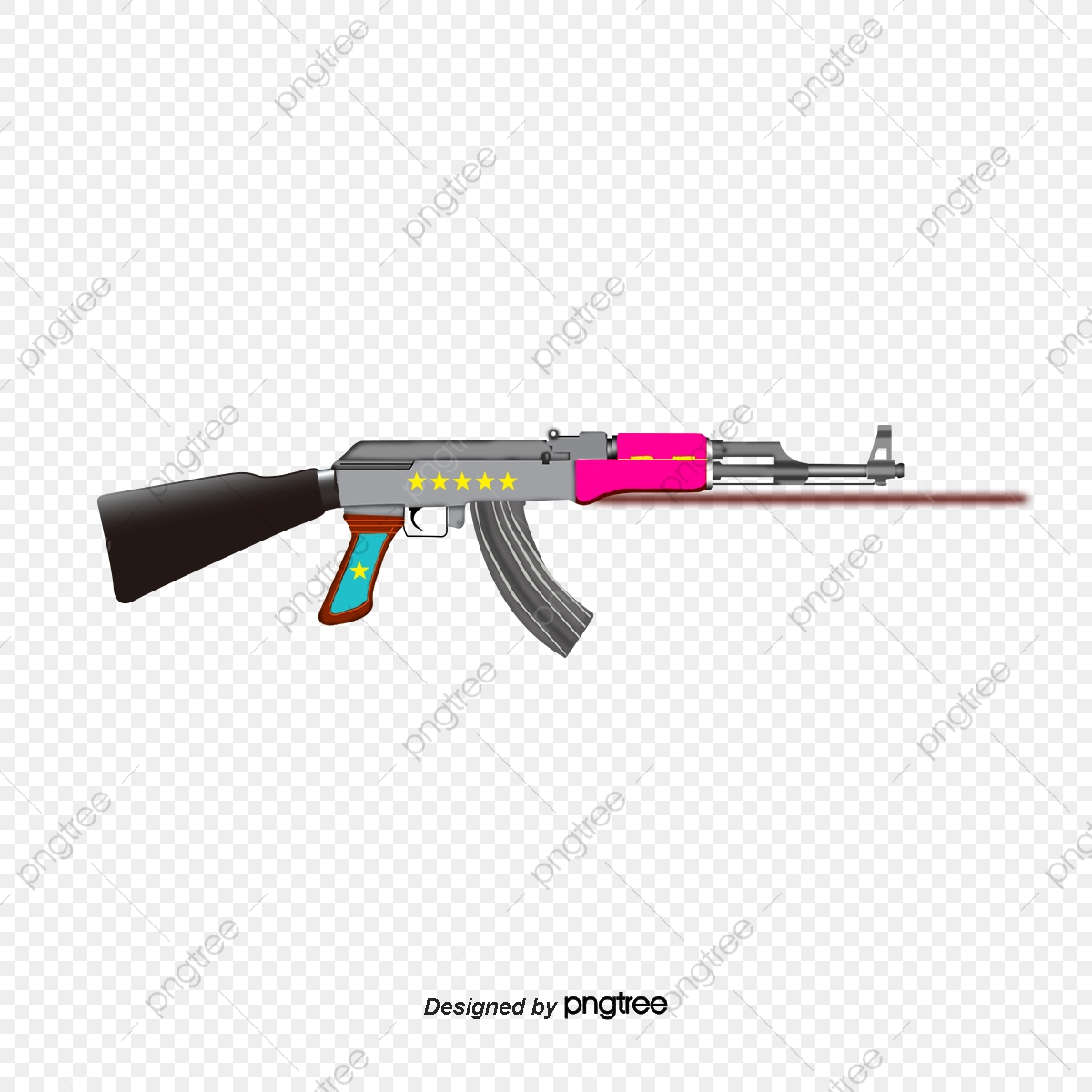 Black Ak47, Black Vector, Ak47, Black PNG and Vector with.