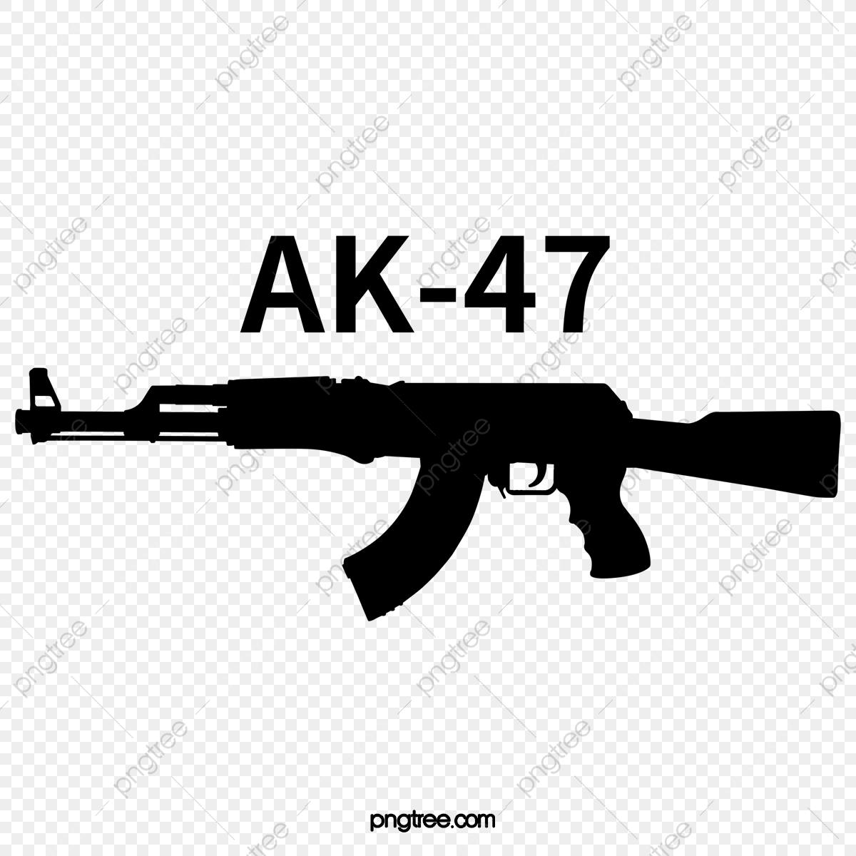 Ak Black Art Word Cutout, Art Clipart, Arms, Firearms PNG.