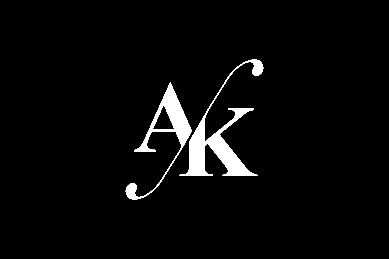 AK Monogram Logo design By Vectorseller.