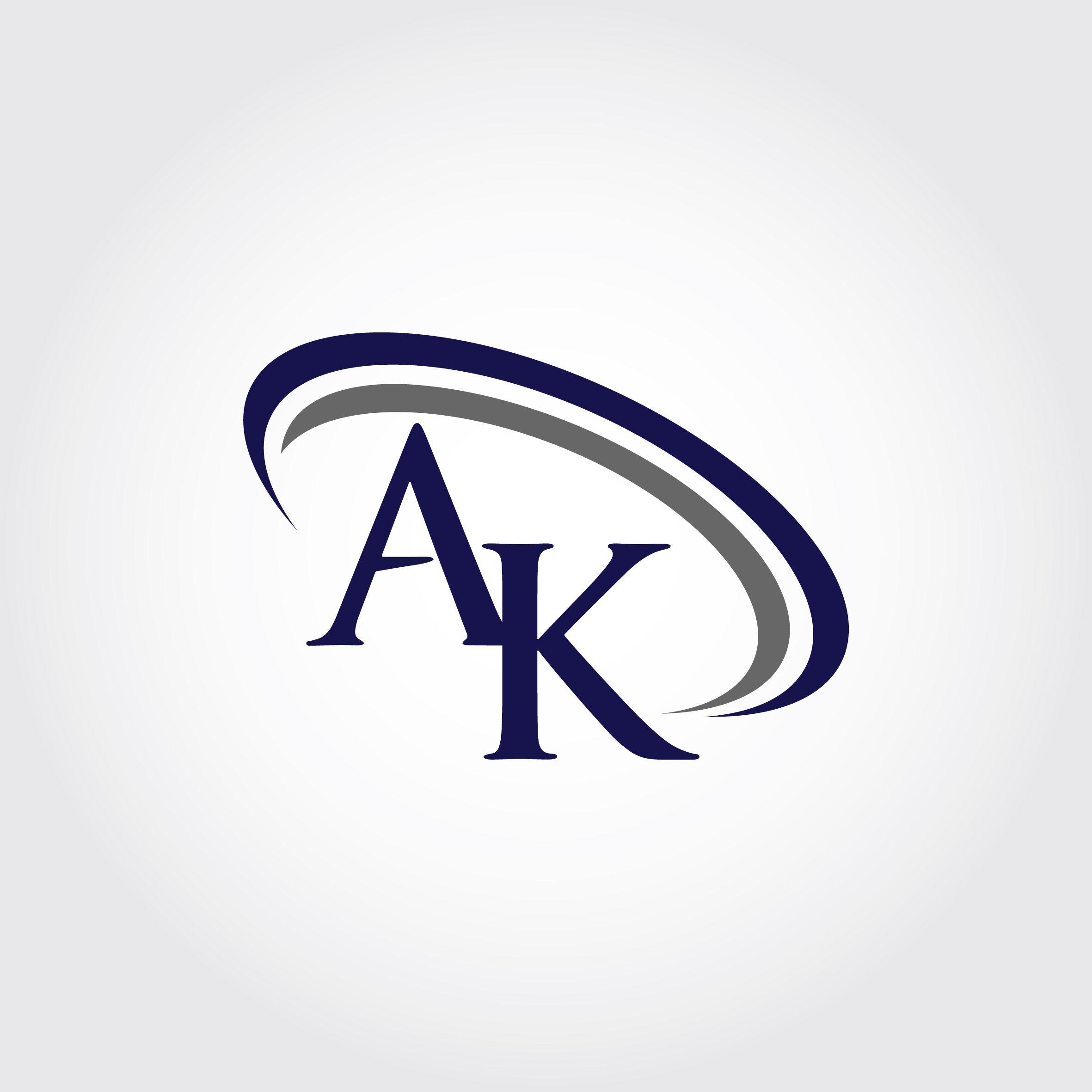 Monogram AK Logo Design By Vectorseller.