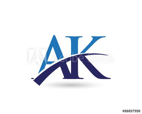 AK Logo Letter Swoosh.