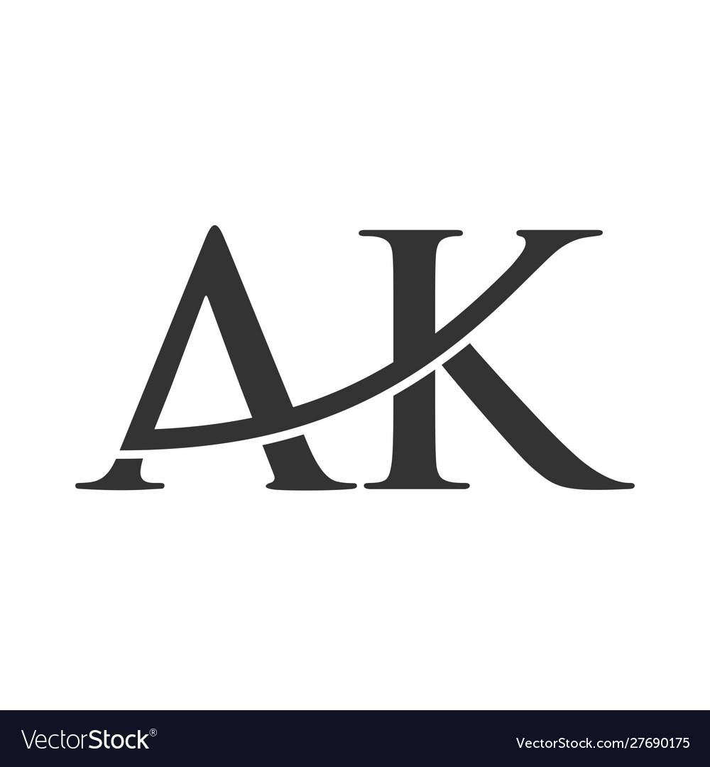 Creative letter ak logo icon.