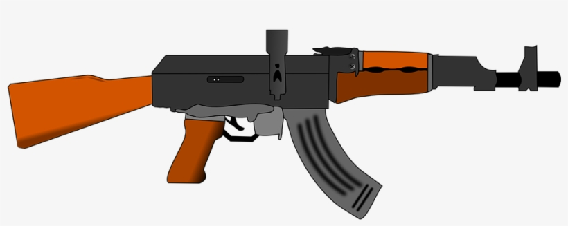 Machine Gun Clipart Ak 47.