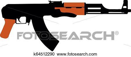Assault rifle Kalashnikov, AK.