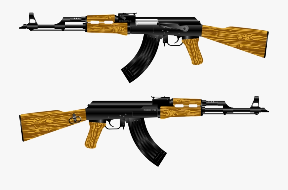 Clipart Of Trigger, Ak 47 And Ak47.