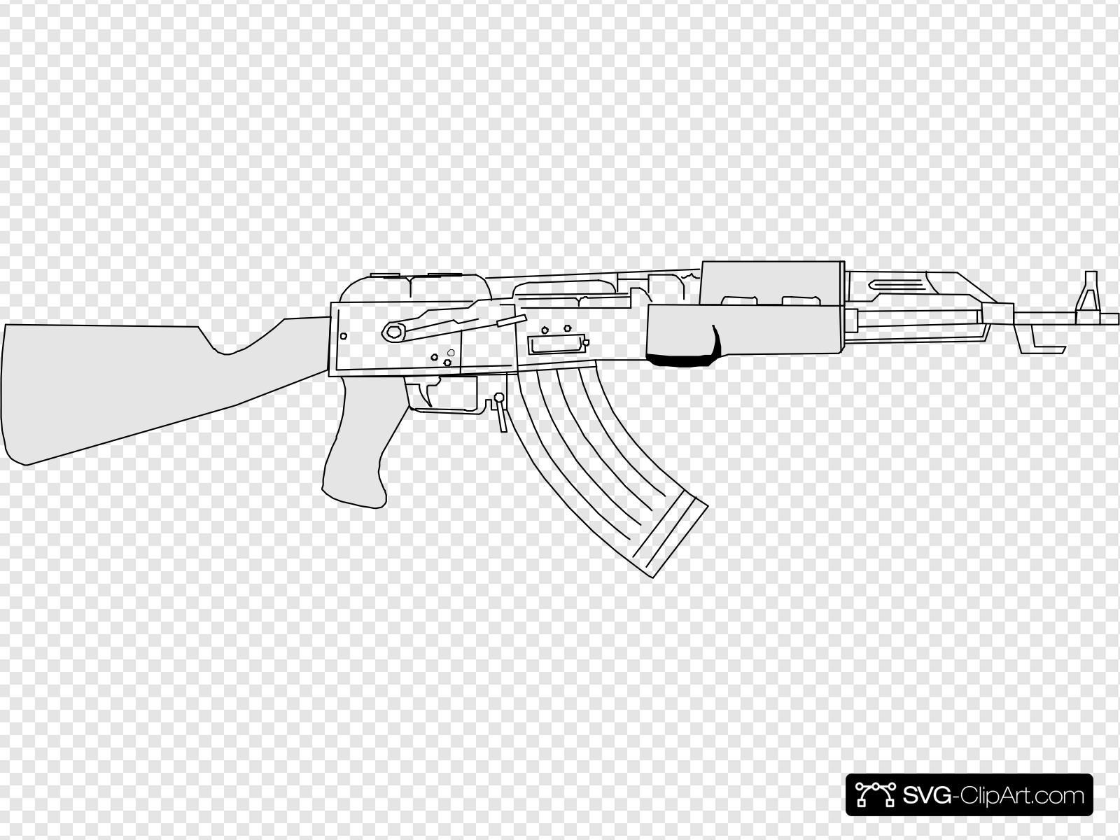 Ak47 Clip art, Icon and SVG.