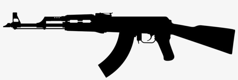Guns Silhouette Cliparts.