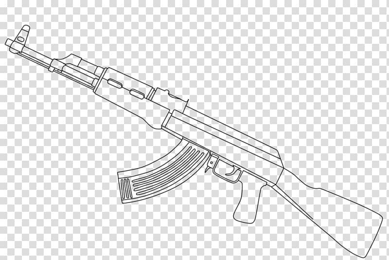 Assault rifle illustration, AK.