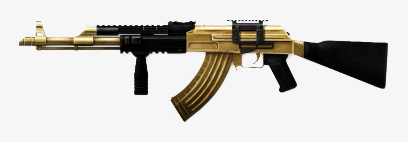 Airsoft Ak47 Gold Gold Ak47 Png Gold Ak 47 Png.