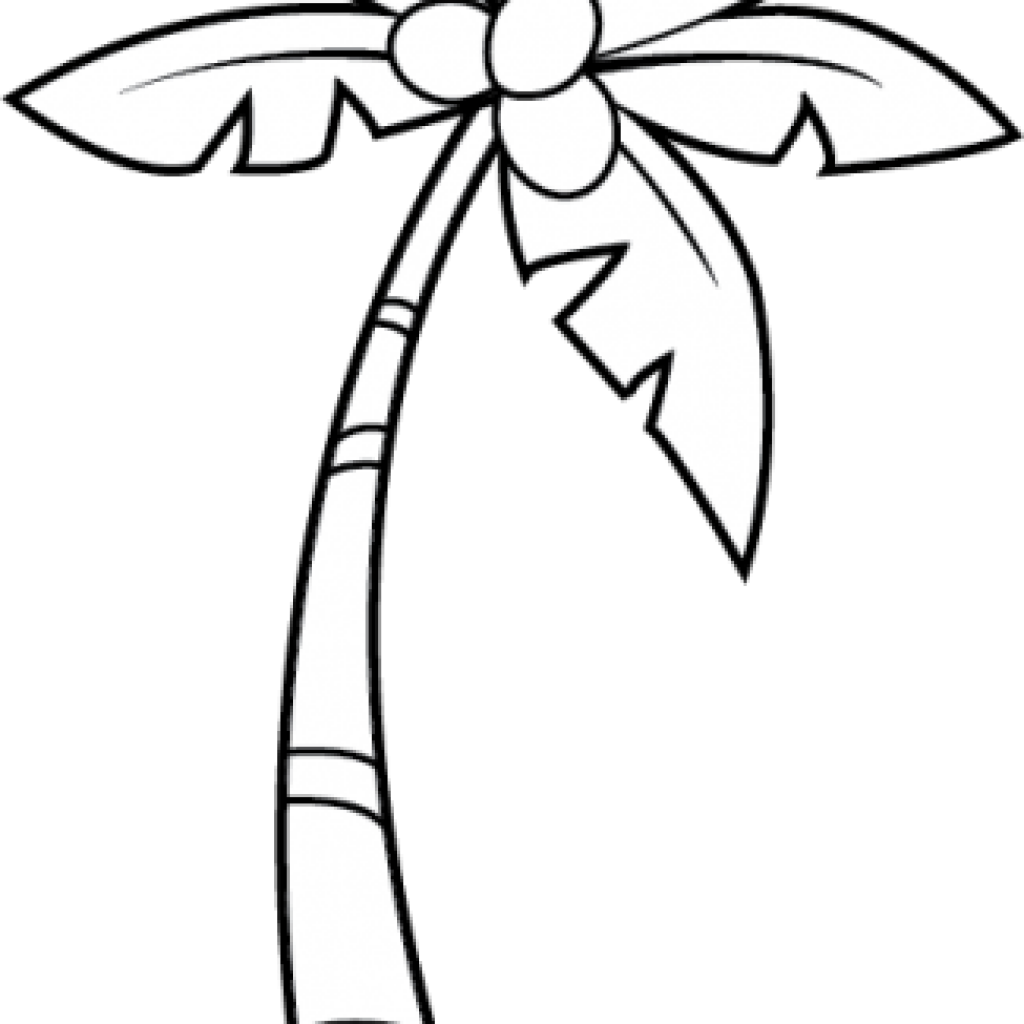 Palm Clipart Black And White.
