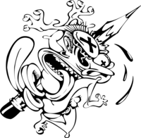 Aka cartoon logo.