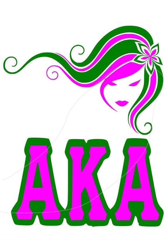 AKA Girl Svg Dfx File.