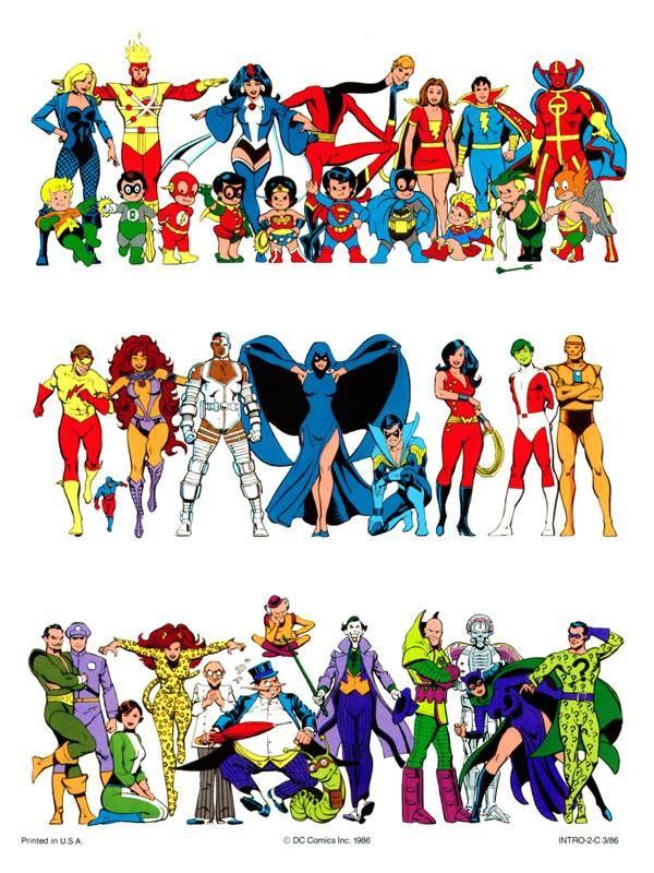 DC Comics Style Color Guide 1986//José Luis García.