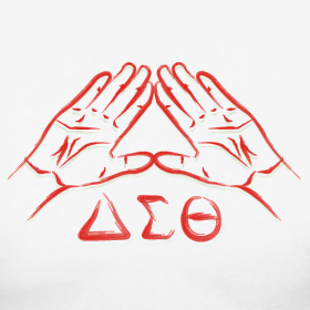 delta sigma theta hand sign.