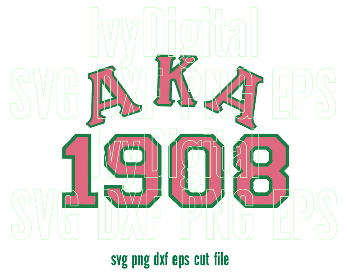 Alpha Kappa Alpha AKA 1908 SVG sign logo AKA Sorority shirt print gifts  party birthday svg eps dxf png cut files silhouette cameo cricut.