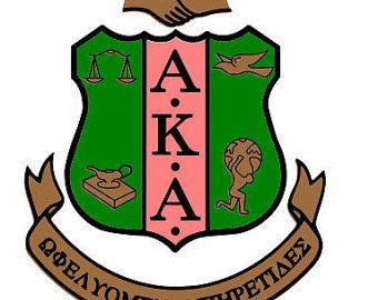 AKA Shield Alpha Kappa Alpha Sorority Greek Letter Shield.