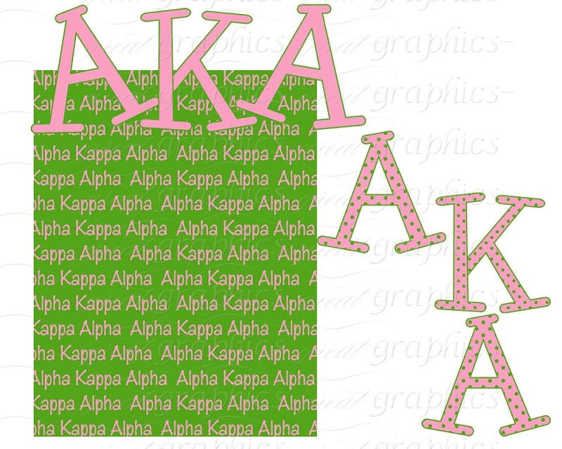 Alpha Kappa Alpha backgrounds, AKA sorority clip art, printable.