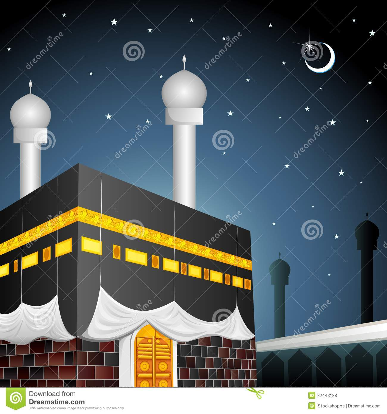 Kaaba Stock Illustrations.