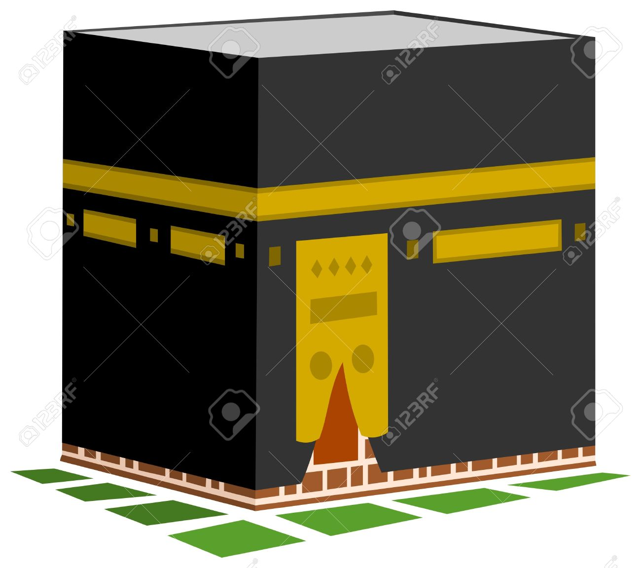 Clip Art Of Kaaba In Mecca Clipart.