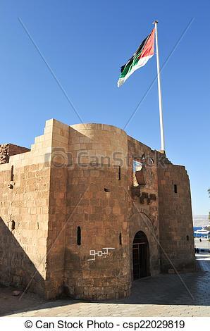 Stock Photography of Aqaba Fort in Aqaba, South Jordan, Arabia.
