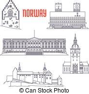 Akershus Vector Clip Art Illustrations. 10 Akershus clipart EPS.