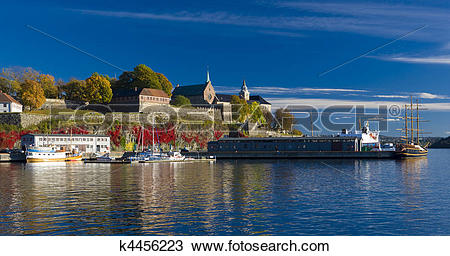 Stock Photo of Akershus Fortress, Oslo, Norway k4456223.
