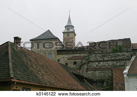 Stock Photo of Akershus Festning Detail k0145122.