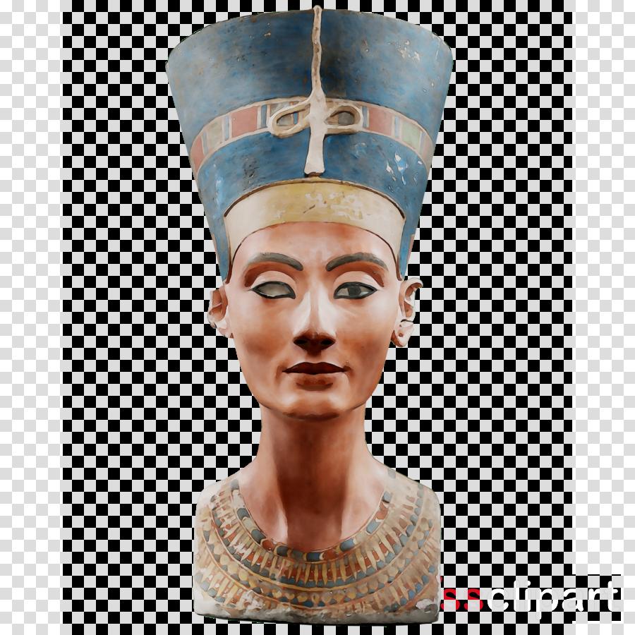 egyptian museum of berlin clipart Akhenaten Nefertiti Bust.