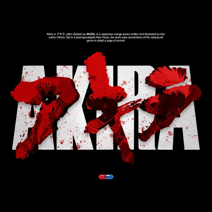 Made some art using the Akira logo!.