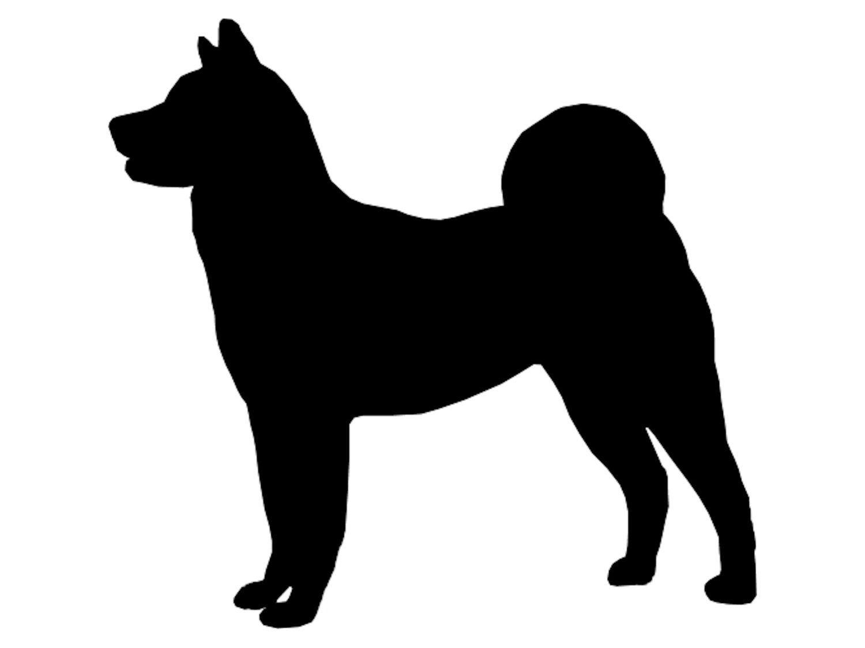 Akita Dog Silhouette.