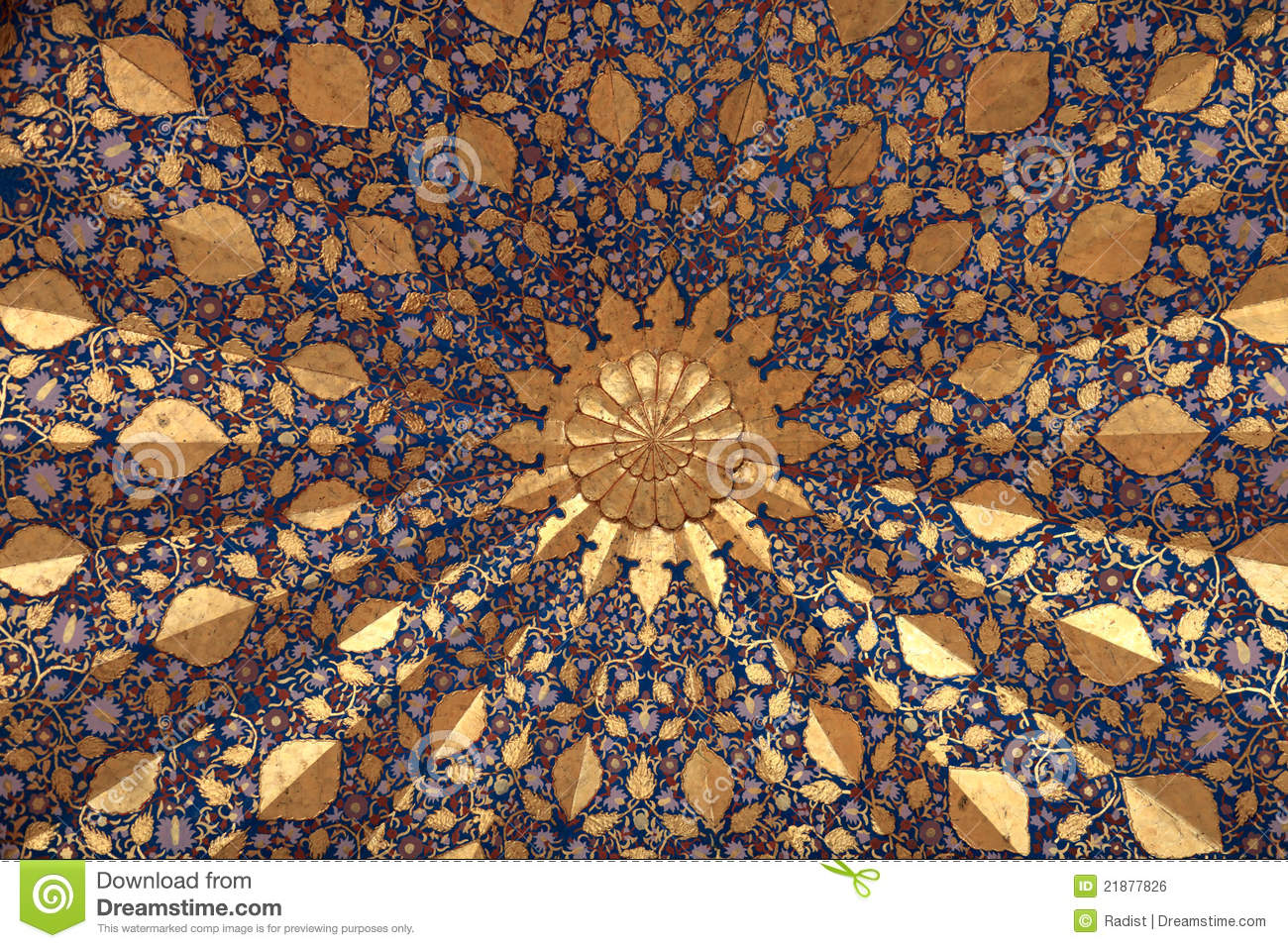 Ceiling Of Aksaray Mausoleum Royalty Free Stock Image.