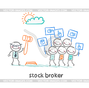 brokers buy stocks.