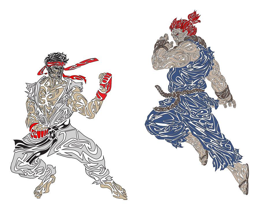 Akuma Street Fighter Clipart.