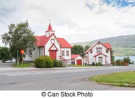 Stock Photo of House in Akureyri Iceland.