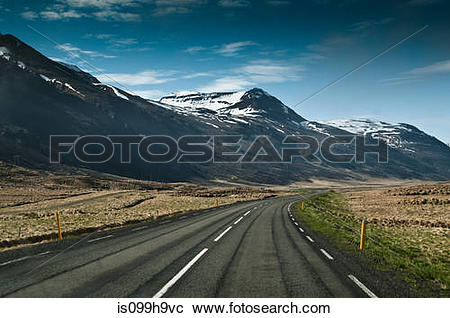 Stock Photography of Road from Akureyri To Varmahlid, Iceland.