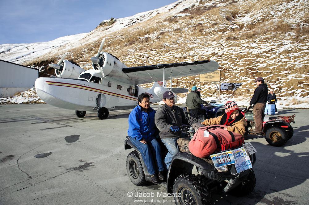 Transport into Akutan Island, Alaska.