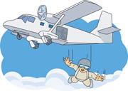 Jumping Out Of A Plane Clipart.