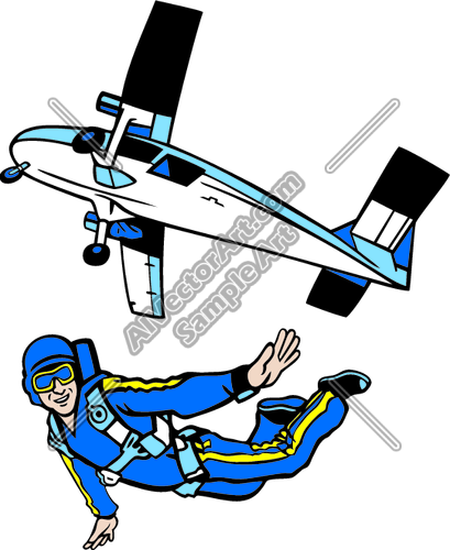 Skydiving Plane Clipart.