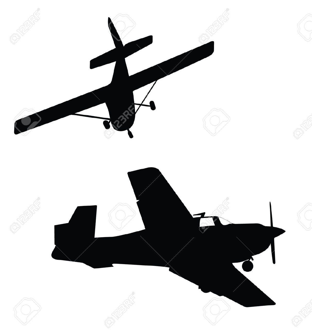 small plane silhouette.
