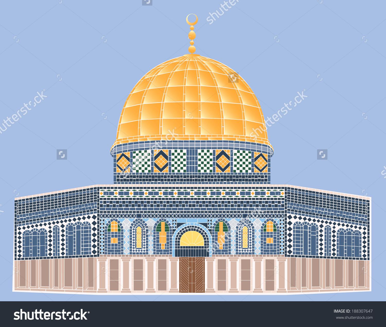 Line Art Jerusalem : Al aqsa mosque clipart clipground