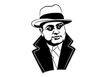 Amazon.com: Yetta Quiller Al Capone Diecut Decal Car Window.