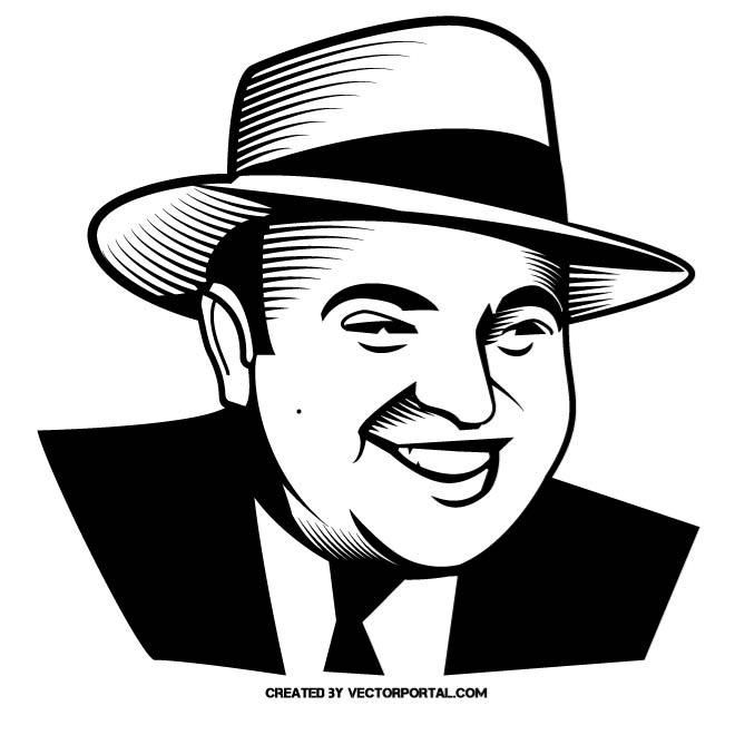 Gangster Al Capone vector portrait. in 2019.