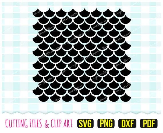 Mermaid Scales Svg, DXF, PNG, PDF.