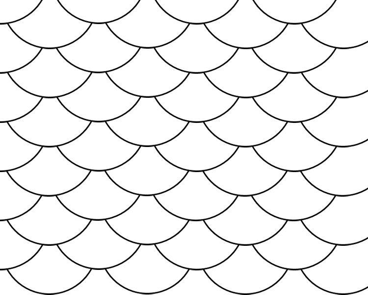 Fish Scale Pattern.